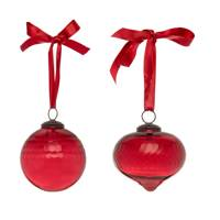 December 5: Kelly Hoppen Sanded Glass Baubles in Red (set of two), £20