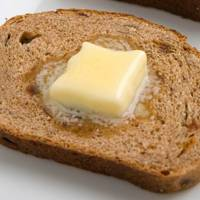 1 Slice Of Toasted Cinnamon & Raisin Bread With 1Tsp Butter = 100 Kcal