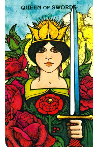 The Queen of Swords from The Morgan Greer Tarot