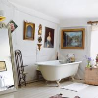 Country Bathroom with Clawfoot Bathtub