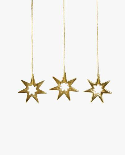STAR DECORATION (PACK OF 3) £7.99, Zara Home