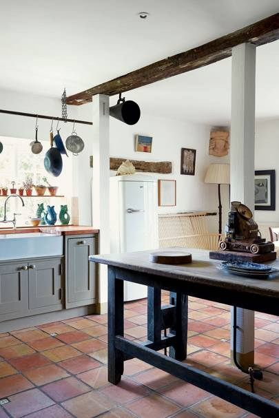 Charming Country Kitchen Wooden Worktop