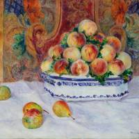 Pierre-Auguste Renoir (1841–1919): Still Life with Peaches and Grapes, 1881