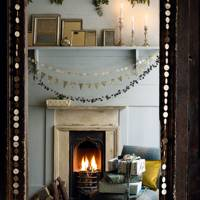 Cosy Living Room With Paper Garlands