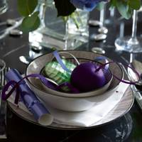 Bauble and ribbons table setting