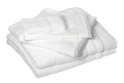 December 19: Cologne & Cotton Lace Edge White Towel Set, £68