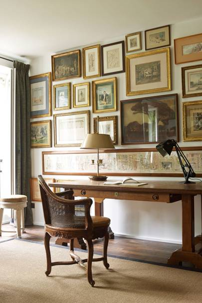 Study with Gilt-Framed Art