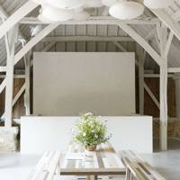 White Country Barn Dining Room