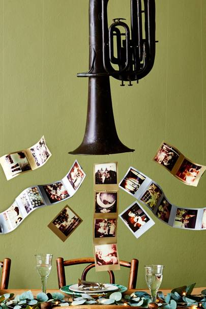 Photo Horn - Christmas Decorating Ideas
