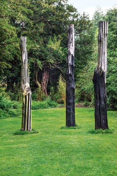 Trio of Oak Columns