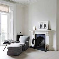Living Room Fireplace - Architect's Pale Family Home