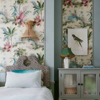 Pierre Frey Wallpaper in Tropical Bedroom