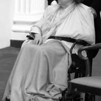 In a wheelchair