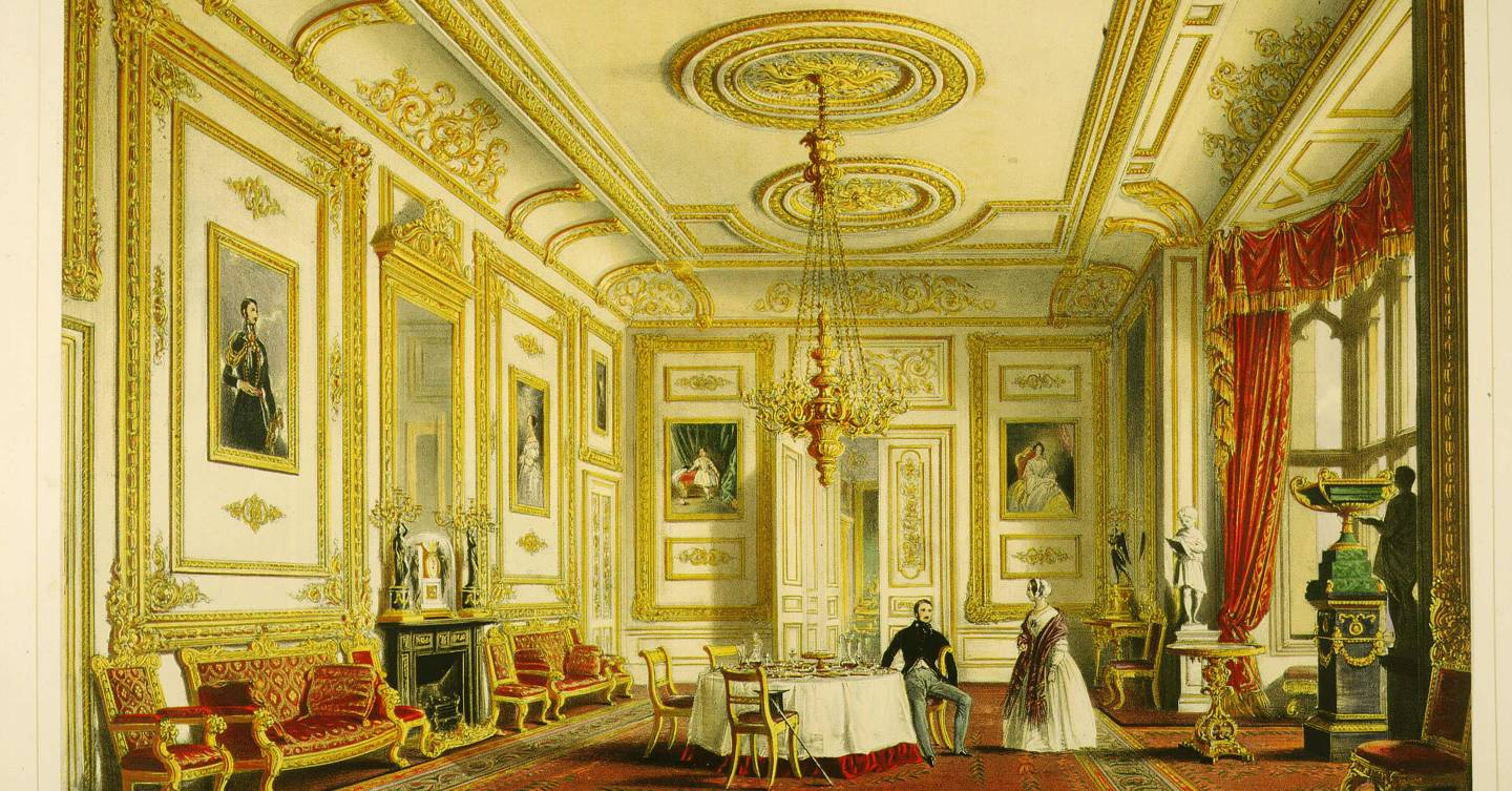 The history of the White Drawing Room at Windsor Castle
