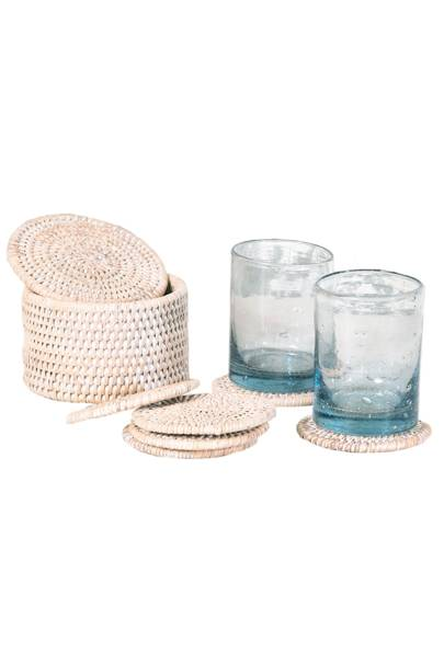 May 20: Kalinko Latha Coasters in White, £22