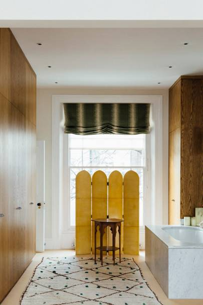 Bathroom with Yellow Screen