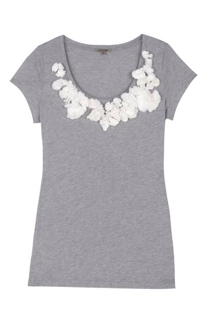 Marl Silk Flower Tee