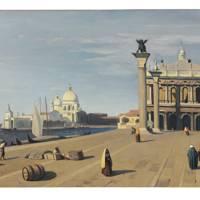 JEAN-BAPTISTE-CAMILLE COROT (1796–1875) Venise, vue du Quai des Esclavons