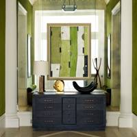 Mirror Wall & Green Velvet
