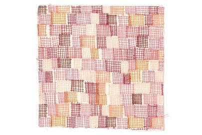 Pink Net Print Fabric