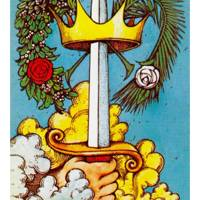 Ace of Swords from The Morgan Greer Tarot