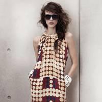 Silk Dress, Bracelet & Sunglasses