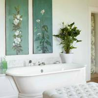 Painted Panel Bathroom - West Country Newbuild Country House
