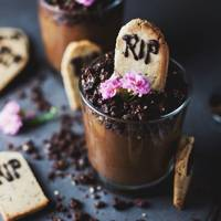 Graveyard Chocolate Mousse Pots