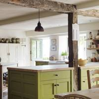 Green Island Unit with English Oak Worktop
