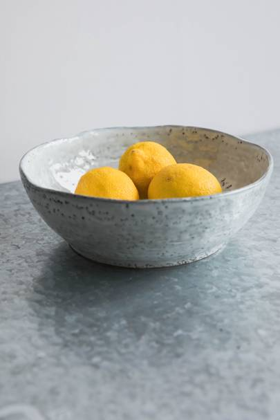 6. Blue Dappled Serving Bowl