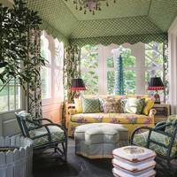 Patterned Sun Room