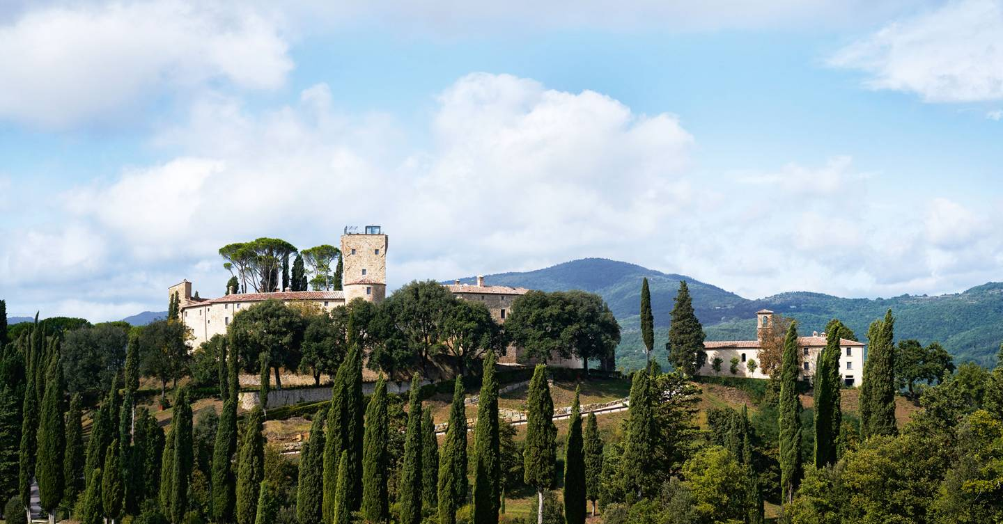 On a hilltop in Umbria an ancient castle transformed into a hotel we could live in