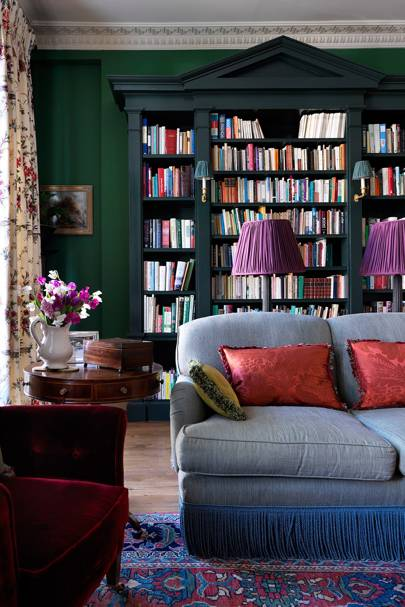 Living Room Bookcase - English Garden Square House