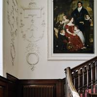 Staircase Portrait - Restored Georgian House in Somerset