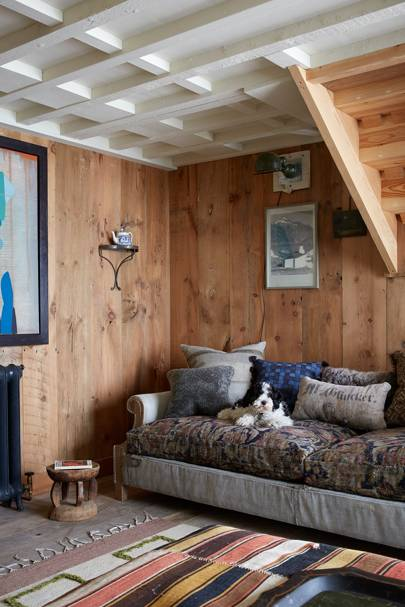 A Large Painting By Irish Artist Martin Finnin Hangs In The Living Room Of Tiny Barn Decorated Antiques Dealer And Designer Christopher Howe