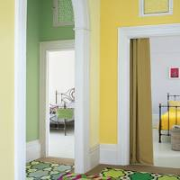 Yellow and Green Hallway