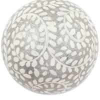 Silver Swirl Glitter Ball