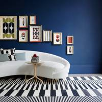 Living Room Colours - navy
