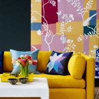 Yellow Sofa and Wallcovering