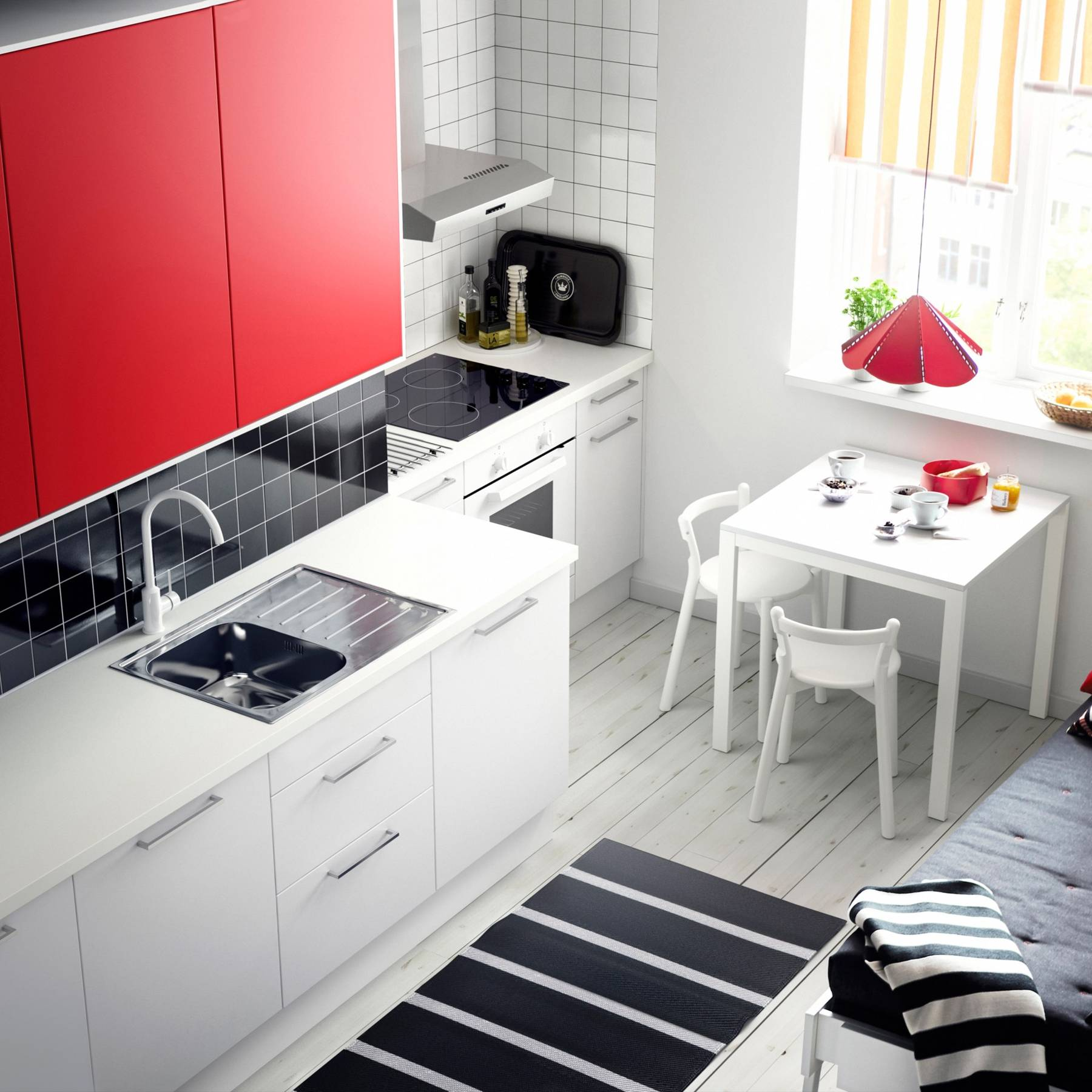 Small Ikea Kitchen Studio Small Spaces Ideas House Garden