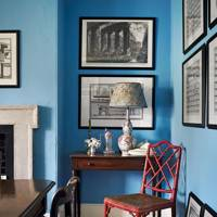 Blue Country Dining Room | Dining Room Design Ideas
