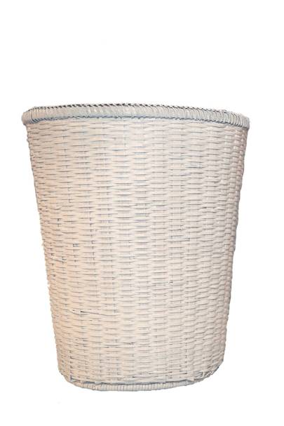 May 10: Kalinko Mandalay Waste Paper Basket in White, £28