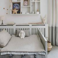 Grey and White Kid's Room