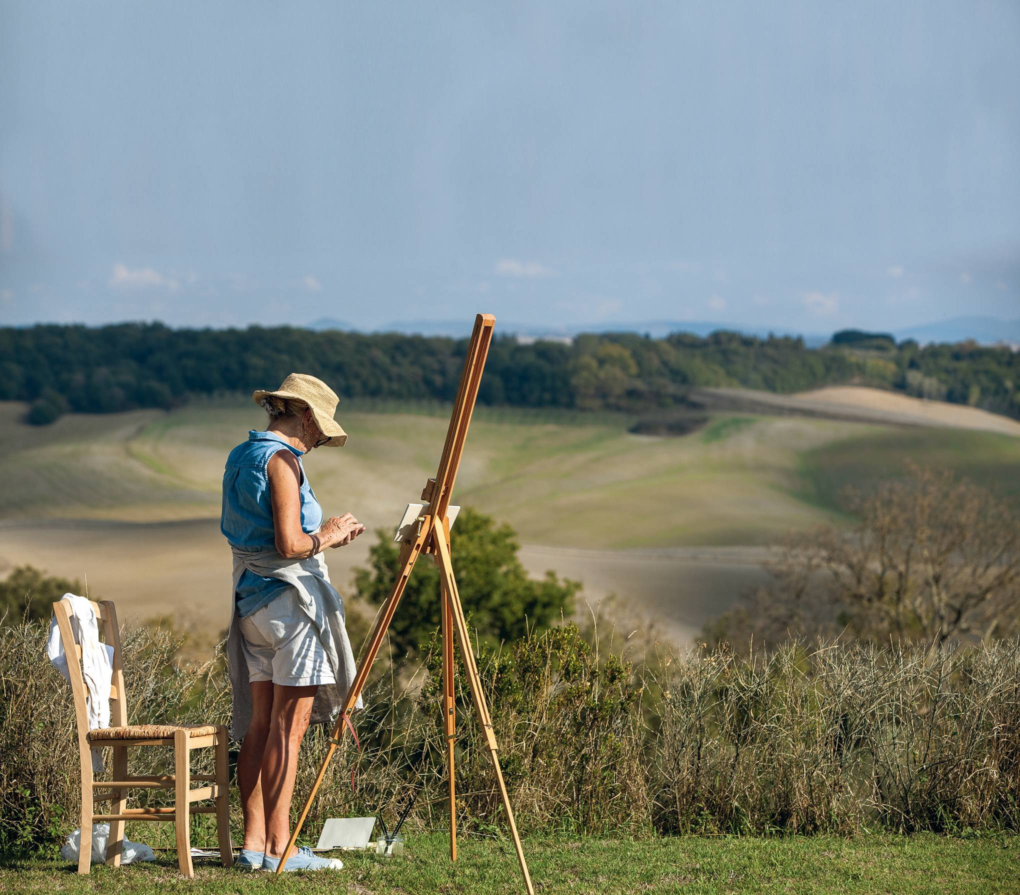 A rural painting holiday in the Tuscan hills