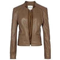 Fitted Leather Milly Blazer