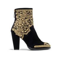 Gold Embellished Boot