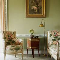 Drawing room with chintz furniture