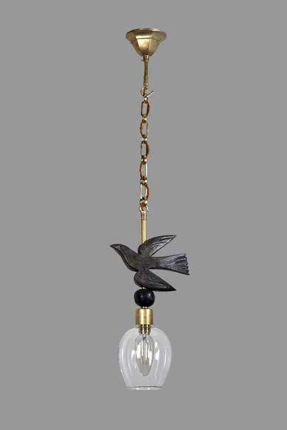 Vintage Black Chandelier with Candle and Clear Crystal 6812 Lights Metal Pendant Lighting with 19.5