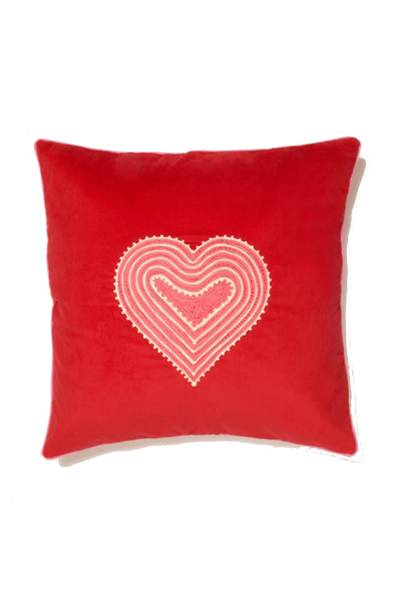 July 9: Mehendi Heart Cushion, £70, from Irene Werner
