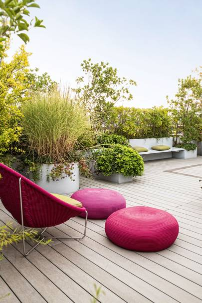 Roof Terrace with Modern Garden Furniture